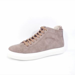 Basket hoog model taupe suede