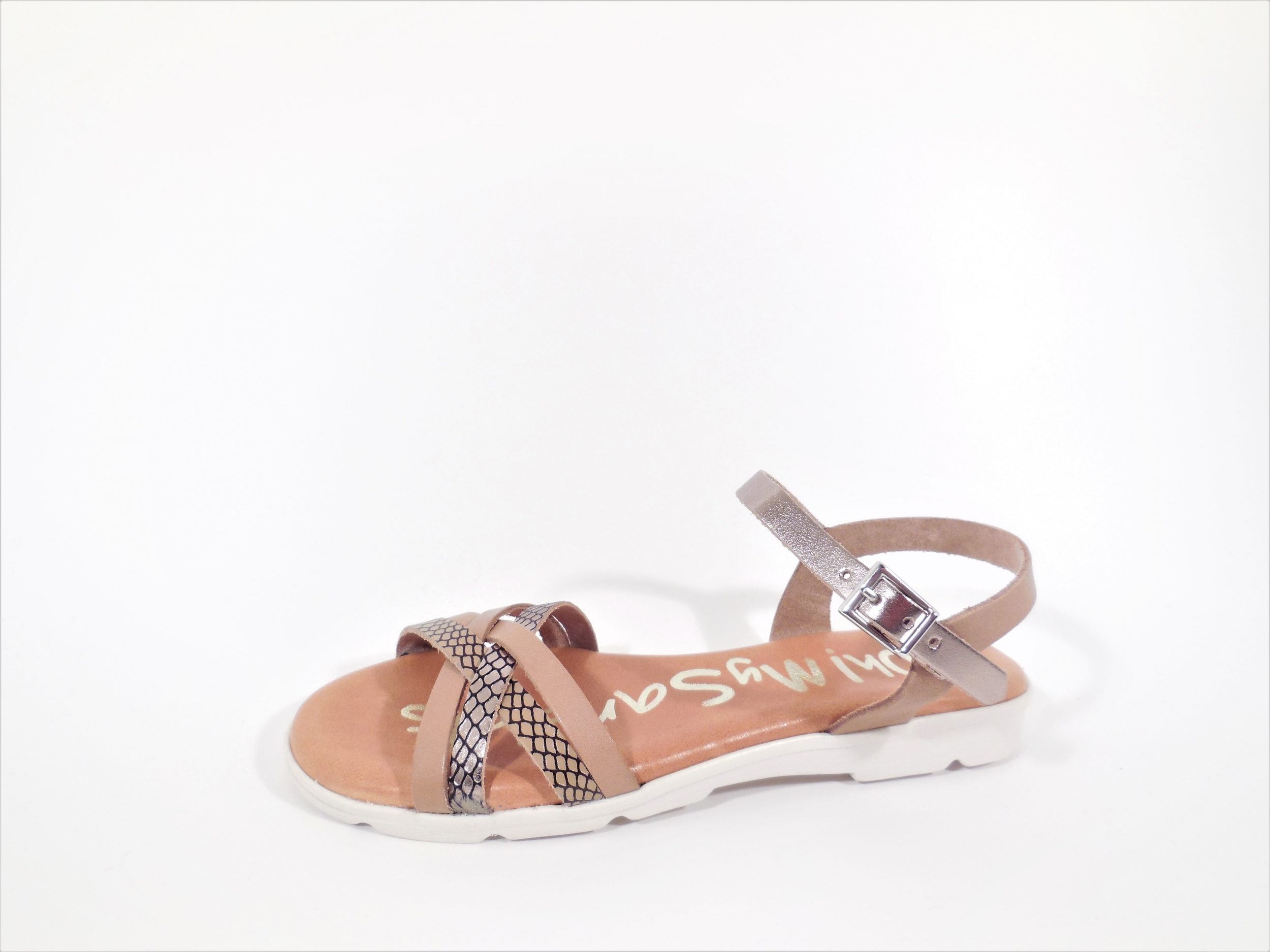 Sandaal taupe brons